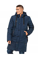 Зимняя мужская удлиненная куртка