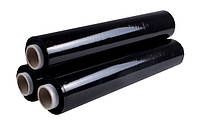 Стрейч пленка чёрная (упаковочная) 20 мкм х 500 мм х 5кг.
