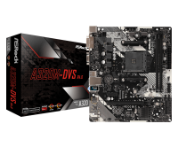 Материнская плата/ASRock/A320M-DVS/Socket AM4/2xDDR4/1 PCIe 3.0 x16, 1 PCIe 2.0 x1/GLAN/7.1HD/DVI-D/D-Sub/6xUSB/4xSATA3/ RAID/PS/2x1/Micro ATX