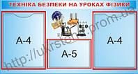 Стенд Техніка безпеки на уроках фізики (70402.2)