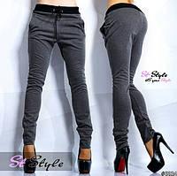 Женские стильные спортивные штаны  Серый 44