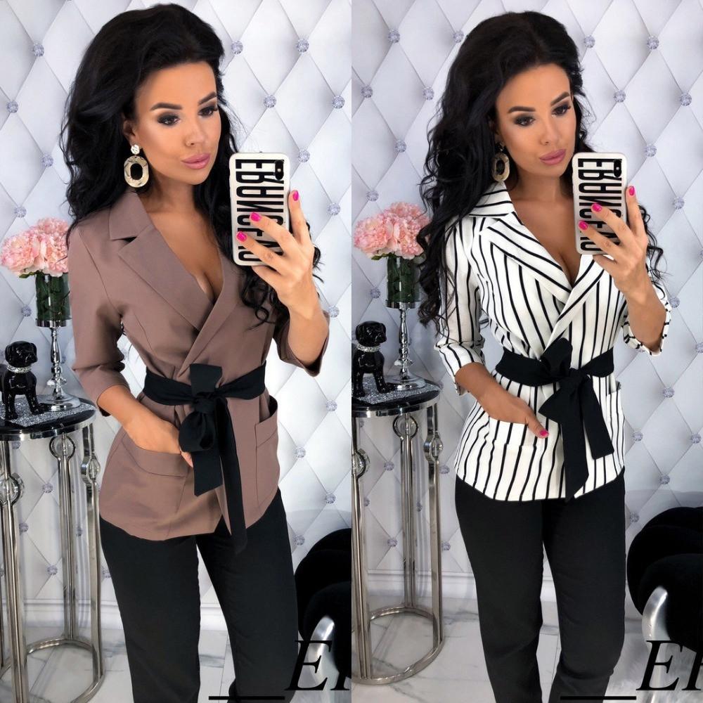 Костюм женский деловой брючный стильный, удлиненный пиджак под пояс, повседневный, офисный, нарядный