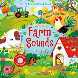 Интерактивная книга для малышей  «Звуки фермы» Farm sounds, Usborne
