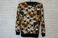 Мужской свитер с мопсами