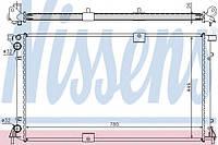 Радиатор двигателя на Renault Trafic(Трафик) Opel Vivaro с 2003 года 2.5dCi (135 л.с.) (+AC) Nissens NIS63818A