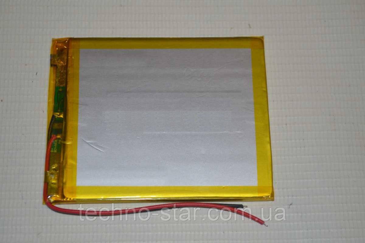 Универсальный аккумулятор (АКБ, батарея) 3.7V 3500mAh (4.0*60*80mm)