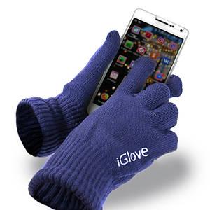 Перчатки iGlove для сенсорных экранов синие 149160