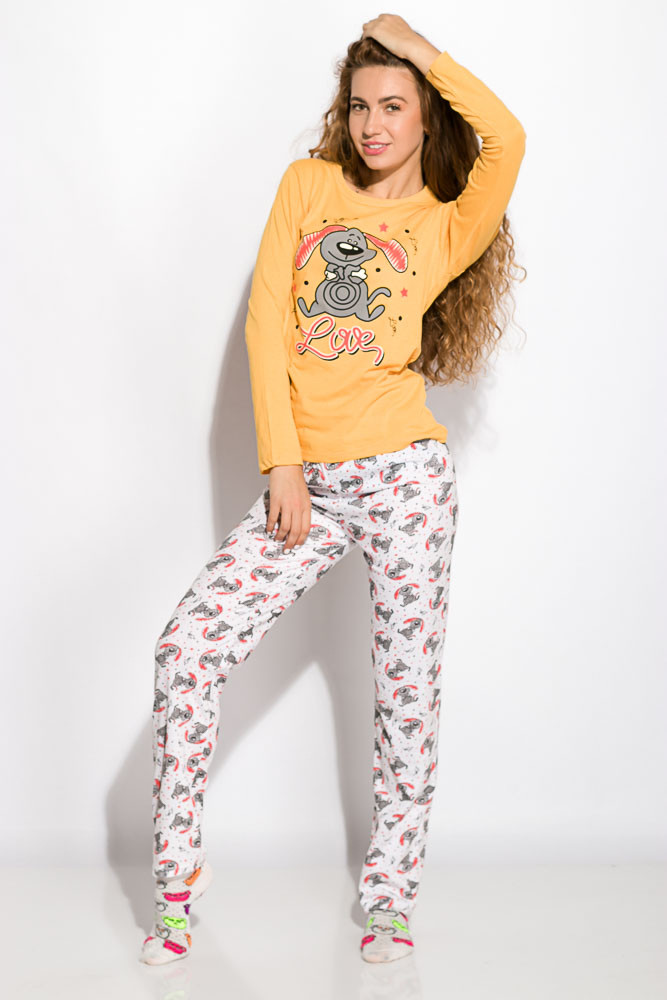 Пижама женская Желтая