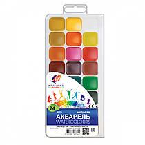 Фарби акварельні Промінь Класика 24 кольору в пластиковій упаковці 19С1294-08