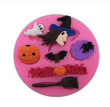 Молд силиконовый Хэллоуин - диаметр молда 7,3см, пищевой силикон