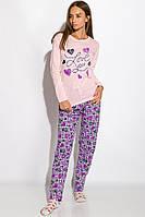 Пижама женская с длинным рукавом Розовая