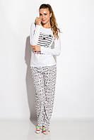 Пижама женская с длинным рукавом Белая