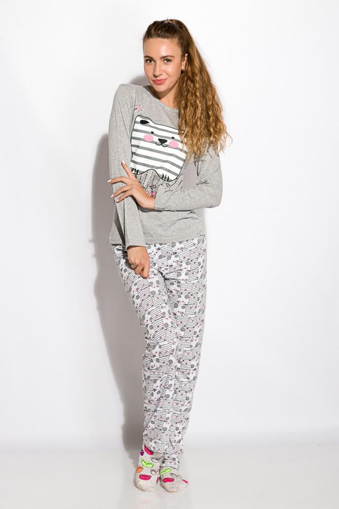 Пижама женская 317F086 (Светло-серый)