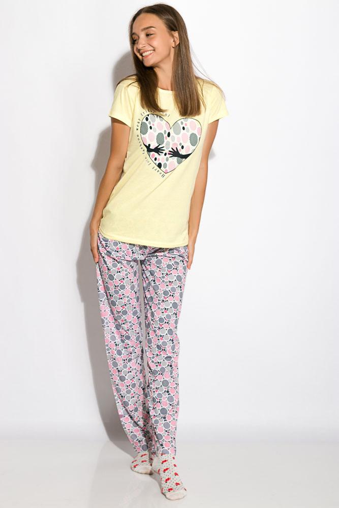 Пижама женская 317F088 (Лимонный)