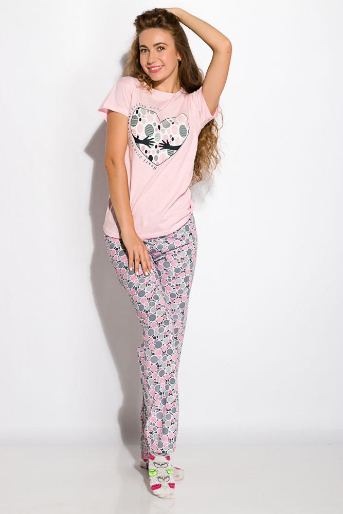 Пижама женская с коротким рукавом Розовая