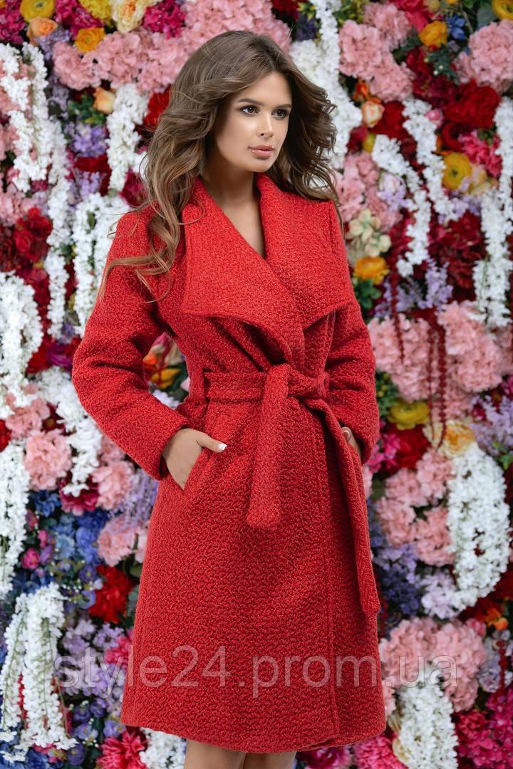Стильне жіноче пальто з поясом .Р-ри 42-46