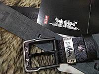 Кожаный мужской ремень в стиле Levis, Левайс реплика