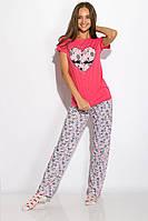 Пижама женская 317F088 (Малиновый), фото 1