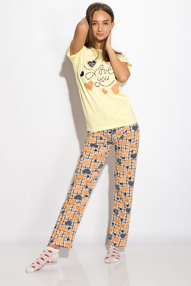 Пижама женская 317F089 (Лимонный)