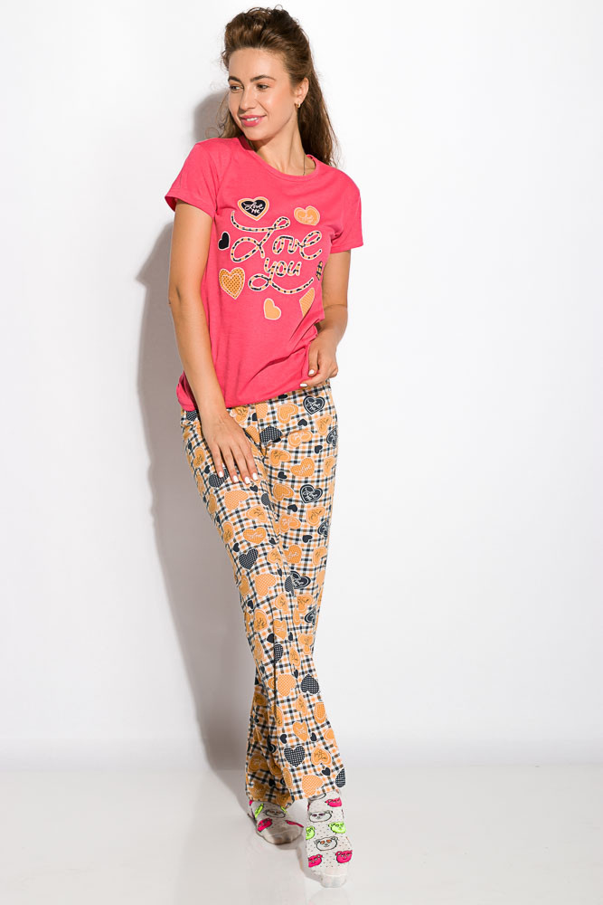 Пижама женская Малиновая