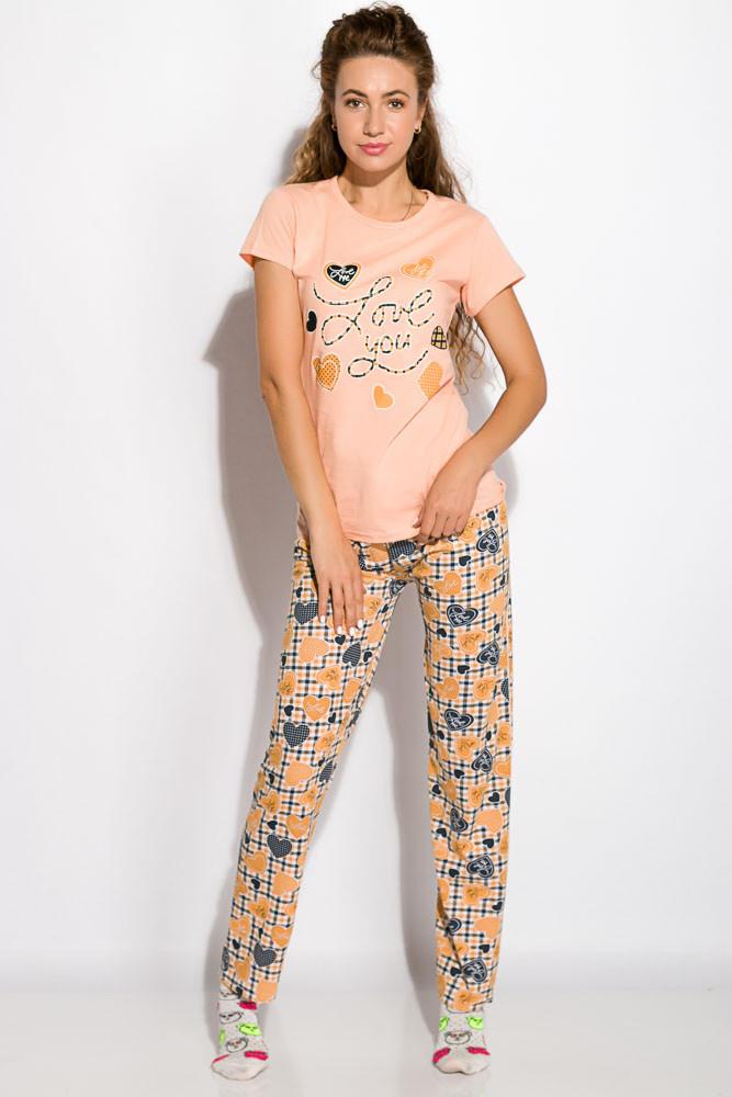 Пижама женская 317F089 (Персиковый)
