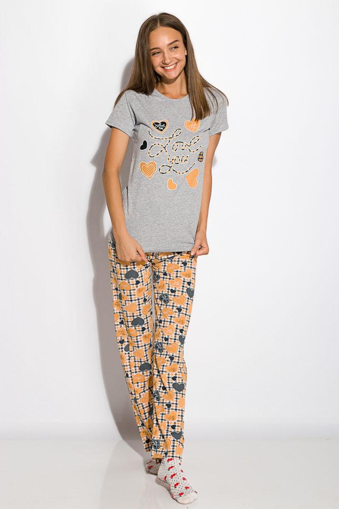 Пижама женская 317F089 (Светло-серый)