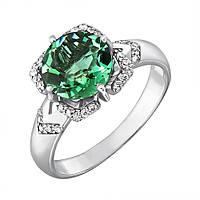 Серебряное кольцо Самуэла с зеленым кварцем и фианитами 17 000096176