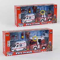 Набор Пожарной охраны 9930 А/ 9930 В (18) инерция, световые и звуковые эффекты, 2 вида, в коробке
