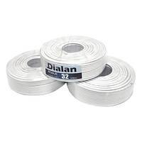 Коаксиальный кабель DL RG6U-32W6*100м, сечение 0,90мм.плотность, заполнения экрана32%, 75 Ом  (White)