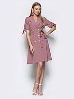 Сиреневое двубортное платье-пиджак из лёгкого софта.42-44  +