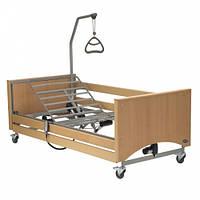 4-х секционная кровать Medley Ergo  с электроприводом деревянные ламели + оделка дерево INVACARE (Германия)