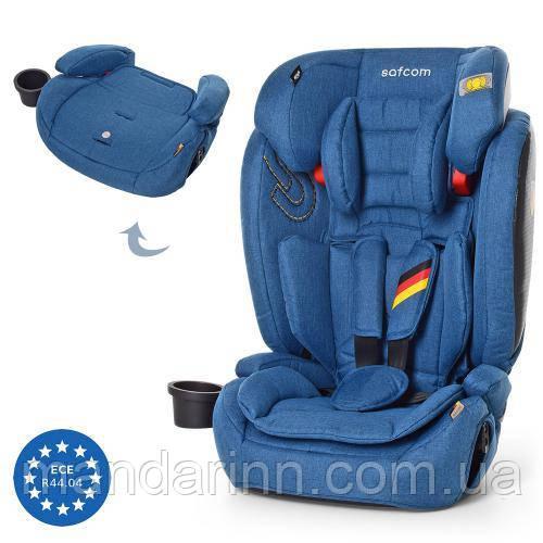 Автокресло детское 2 в 1 (автокресло + бустер) YY11-2-3 Синее