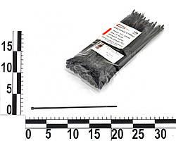 Хомут пластиковый 200х3,6мм (200х4,0мм) черный (100 шт.) уп. (APRO). 22086