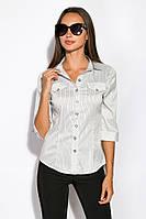 Рубашка женская 118P053-1 (Светло-серый), фото 1