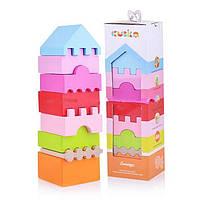 Деревянная пирамидка Cubika (еко-игрушка,Украина),кубика