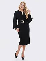 Черное платье футляр 52 54 56 58