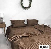 Полуторное постельное бельё в полоску