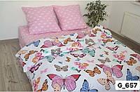 Двуспальное постельное бельё Бабочки