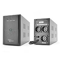 ИБП Ritar E-RTM1500 (900W) ELF-L, LED, AVR, 5st, 3xSCHUKO socket, 2x12V9Ah, plastik Case. Q2
