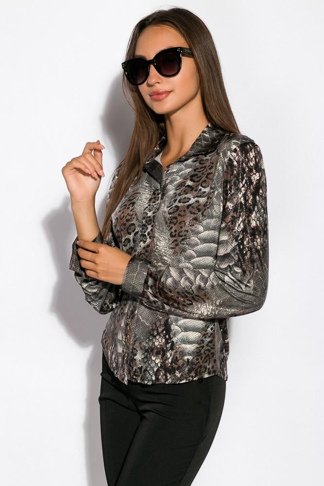 Рубашка женская 118P112-2 (Грифельный)