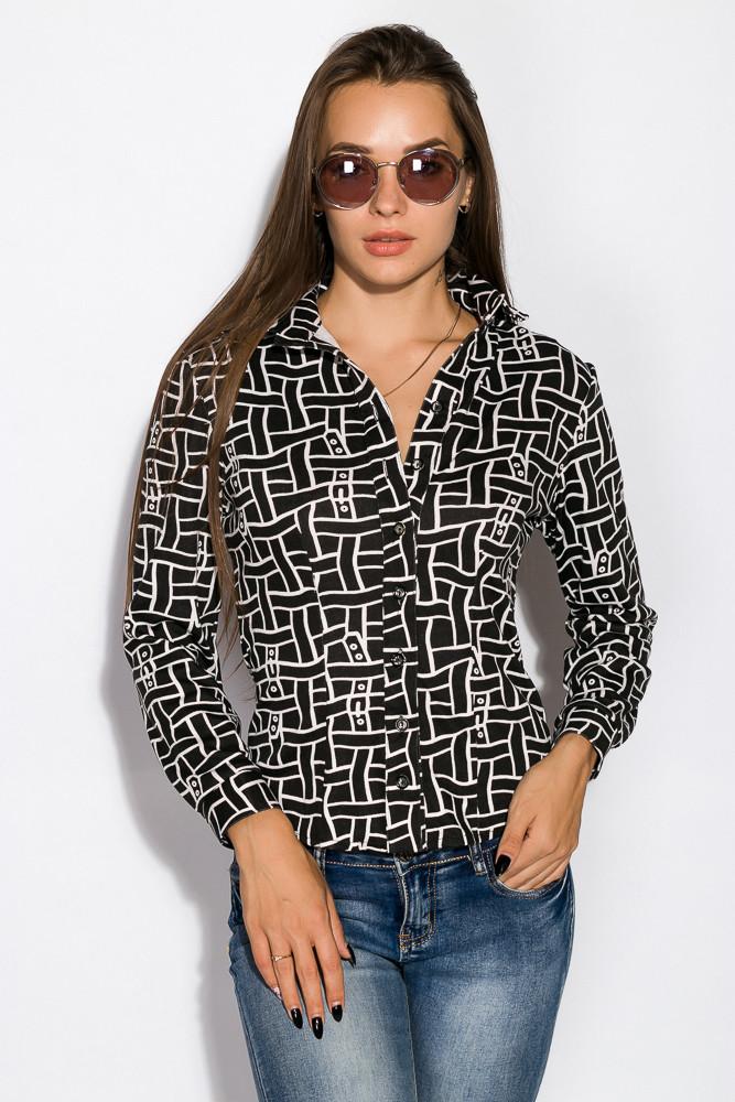 Рубашка женская 118P161 (Черно-молочный)