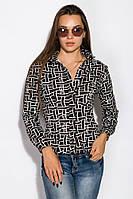 Рубашка женская 118P161 (Черно-молочный), фото 1