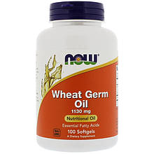 "Масло ростков пшеницы NOW Foods ""Wheat Germ Oil"" 1130 мг (100 гелевых капсул)"