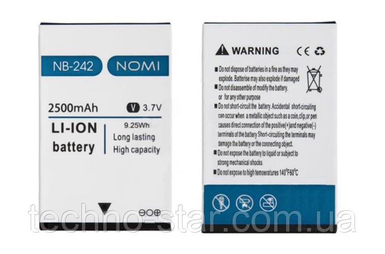 Оригінальний акумулятор ( АКБ / батарея ) NB-242 для Nomi i242 X-Treme 2500mAh