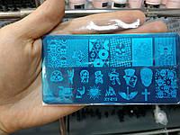 Пластина для стемпинга для дизайна ногтей арт.XY-E12