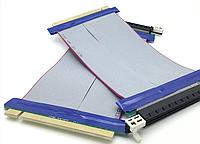 Райзер шлейф гибкий для видеокарты PCI-E 16 -16 переходник удлинитель, фото 1