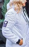 Зимова куртка жіноча Стьобаний плащівка на синтепоні Розмір 44 46 48 50 52 54 56 58 60 62 В наявності 7 кольорів, фото 4