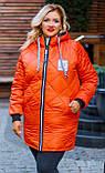Зимова куртка жіноча Стьобаний плащівка на синтепоні Розмір 44 46 48 50 52 54 56 58 60 62 В наявності 7 кольорів, фото 10