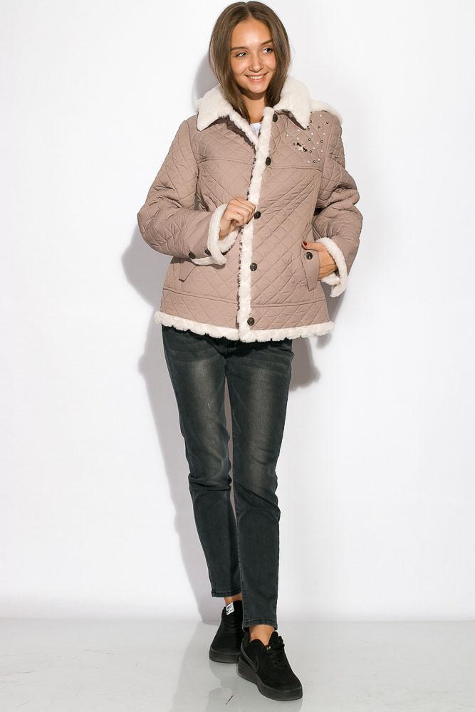 Куртка женская на меху, с капюшоном