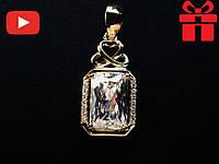 """🔥✅Женский кулон """"Принцесса"""". Позолота 18 К Xuping, медицинское золото, хьюпинг, ювелирный сплав, бижутерия"""